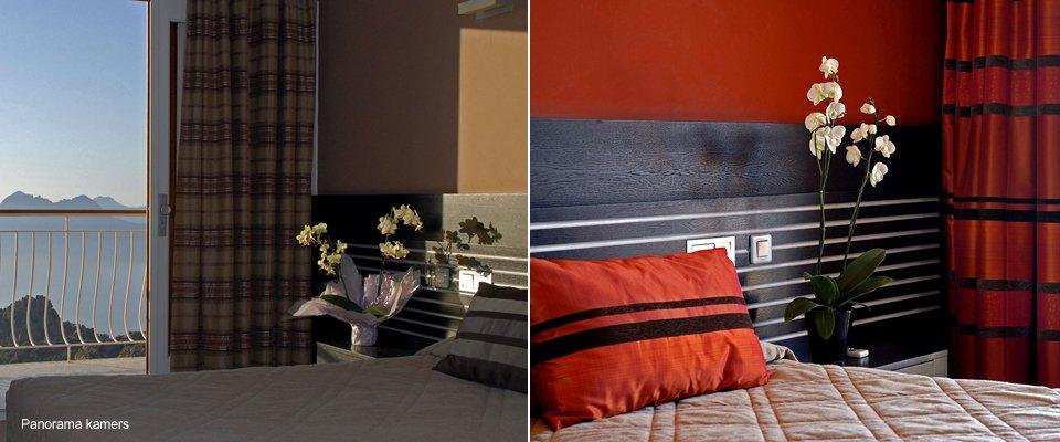 hotel capo rosso corsica piana panorama kamers