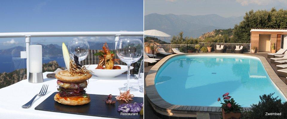 hotel capo rosso corsica piana restaurant zwembad