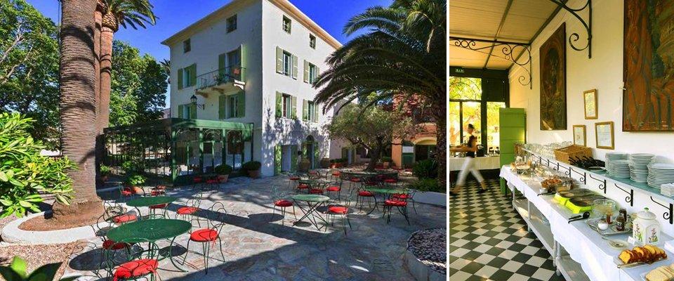 hotel castel brando erbalunga corsica tuin terras ontbijtruimte.jpg