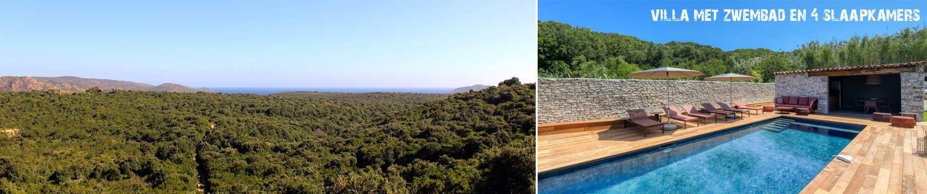 VILLA-ZWEMBAD VERSION MAQUIS corsica luxe villa zomervakantie